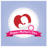 Happy mother day vector Royalty Free Stock Images
