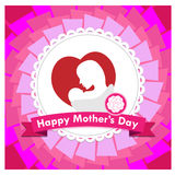 Happy mother day vector stock photo