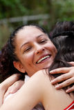 Happy mother in embraces of a daughter Royalty Free Stock Images