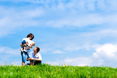 Free Happy Mother, Father And Baby Royalty Free Stock Images - 9344669