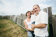 Happy mother and father with child Stock Photography