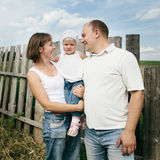 Happy mother and father with child Royalty Free Stock Image