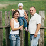 Happy mother and father with child Royalty Free Stock Photography