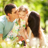 Happy mother, father and daughte Royalty Free Stock Photos