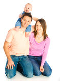 Happy mother, father and son royalty free stock photo