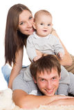 Happy mother and father and son Stock Photography