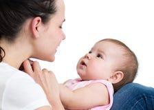 Happy mother having fun with baby Stock Photos