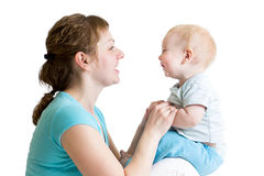 Happy mother having fun with baby Royalty Free Stock Images