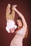 Happy mother having fun with child Stock Image