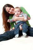 Happy mother having fun with her child Stock Photo