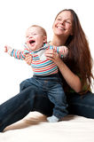 Happy mother having fun with her smiling child Royalty Free Stock Photography