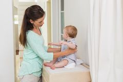 Happy mother with her baby boy Royalty Free Stock Photography