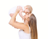 Happy mother and her baby have fun Royalty Free Stock Photos