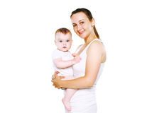 Happy mother and her baby Stock Photography