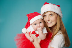 Happy mother with her baby. Happy young mother with her sweet baby Stock Photo
