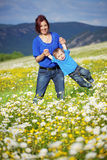Happy mother with her child Stock Photos