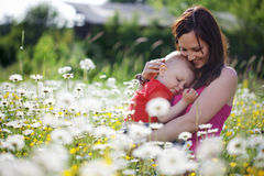 Happy mother with her child Stock Images