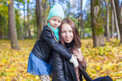 Happy mother and her cute daughter having fun in Royalty Free Stock Photo