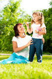 Happy mother with her daughter Stock Photos