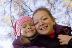 Happy mother with her daughter Royalty Free Stock Photos
