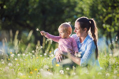Happy mother and her daughter Royalty Free Stock Images