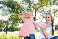 Happy mother and her daughter Stock Image