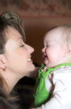 Happy mother and her infant Royalty Free Stock Photo