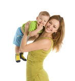 Happy mother with her little boy Stock Photo