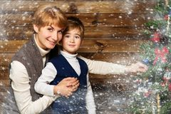 Happy mother and her lIttle boy Royalty Free Stock Images