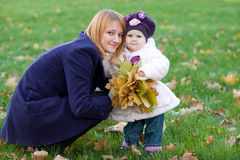 Happy mother and her little daughter Stock Photo