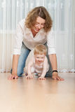 Happy mother and her little daughter Stock Image