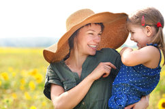 Happy mother and her little daughter Royalty Free Stock Photo
