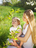 Happy mother and her little daughter Royalty Free Stock Image