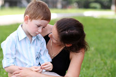 Happy mother and her little son Royalty Free Stock Images