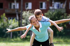 Happy mother and her little son Royalty Free Stock Image