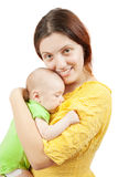 Happy mother with her  newborn baby Royalty Free Stock Photos