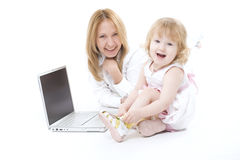 Happy mother with her smiling dauther Royalty Free Stock Image