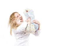 Happy mother with her smiling dauther Stock Photography