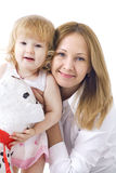 Happy mother with her smiling dauther. Beautiful mother with her smiling dauther Royalty Free Stock Image