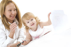 Happy mother with her smiling dauther Royalty Free Stock Images