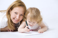 Happy mother with her smiling dauther Stock Image