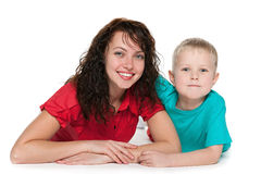 Happy mother with her son Stock Photography