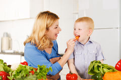 Happy mother with her son Stock Images