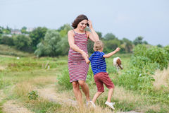 Happy mother and her son Royalty Free Stock Images
