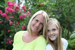 Happy mother with her teenage daughter Royalty Free Stock Photo