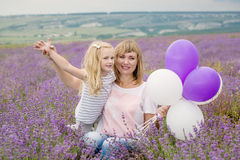 Happy mother with his little daughter Royalty Free Stock Photo