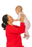 Happy mother holding baby Royalty Free Stock Photography