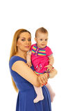 Happy mother holding baby girl Royalty Free Stock Photo
