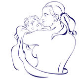 Happy mother holding her baby Royalty Free Stock Images