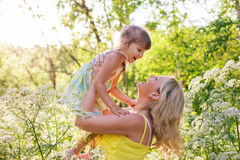 Happy mother and kid Stock Photography